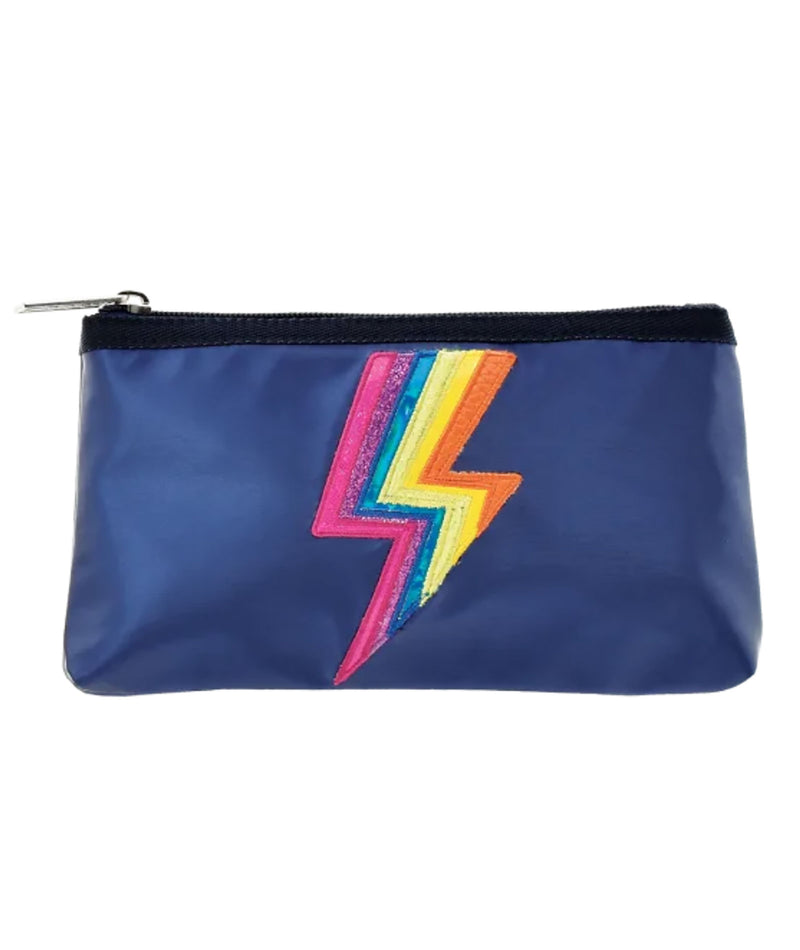 iScream Navy Metallic Lightning Pen Case