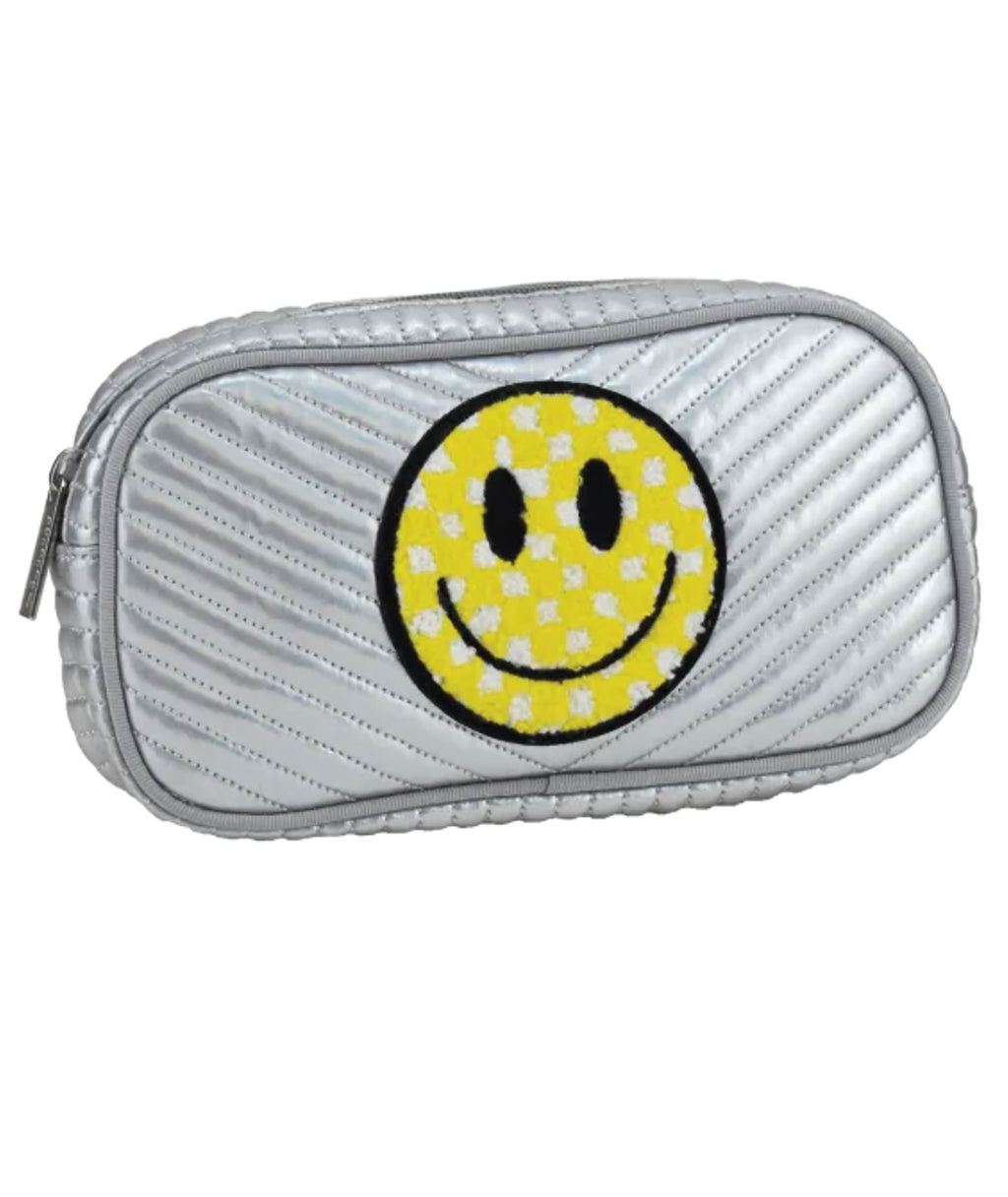 iScream Small Silver Smiley Bag