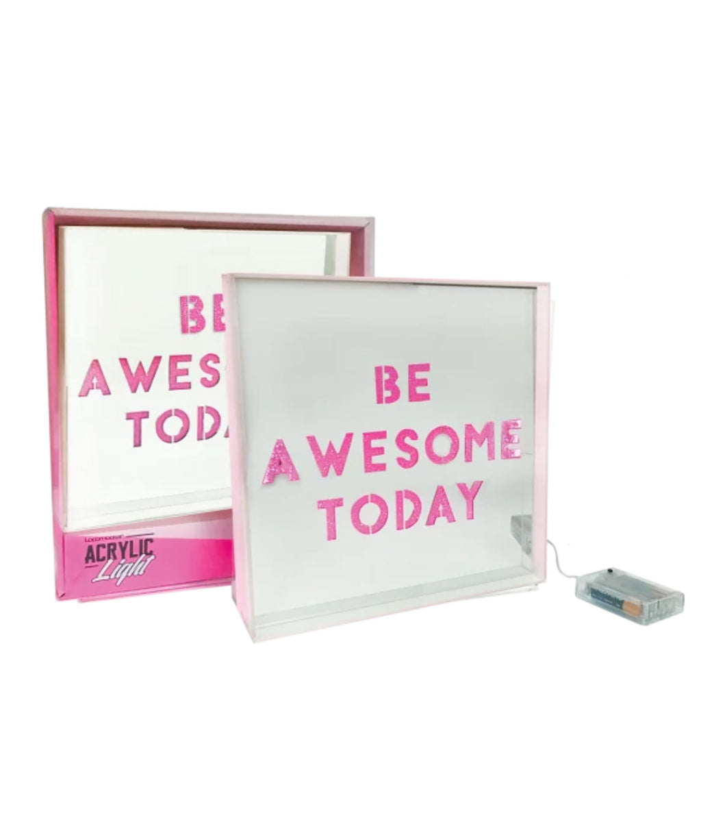 "iScream ""Be Awesome Today"" Light Box"