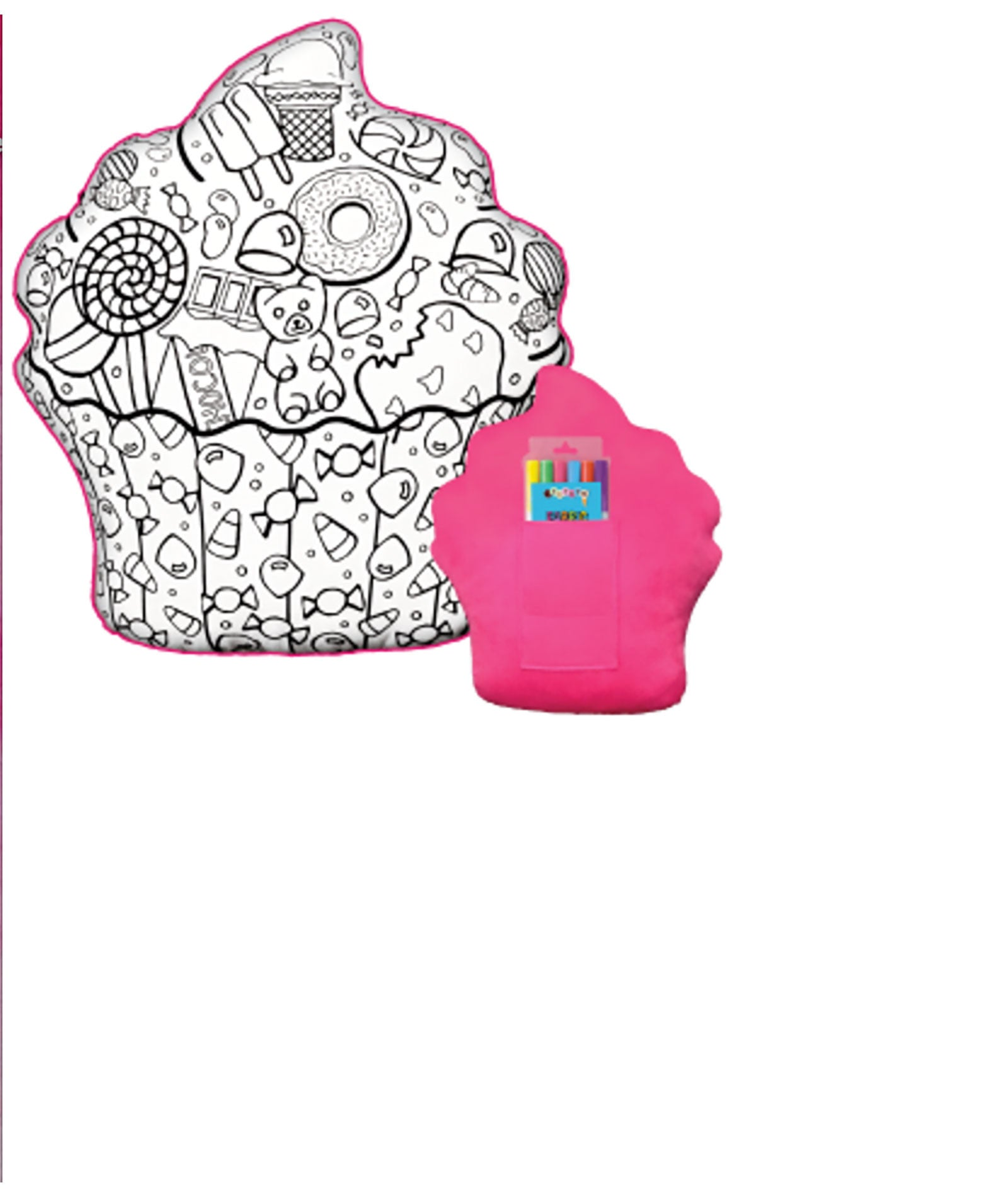 iScream Cupcake Color Me Game Pillow