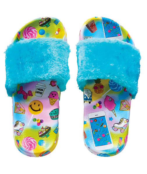 iScream Flair Fur Slides
