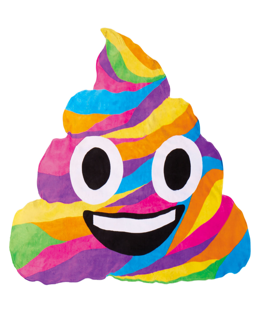iScream Rainbow Poop Emoji Oversized Towel - Frankie's on the Park