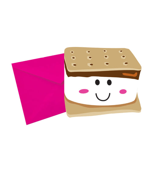 iScream Smiley Smore Chocolate Scented Notecards