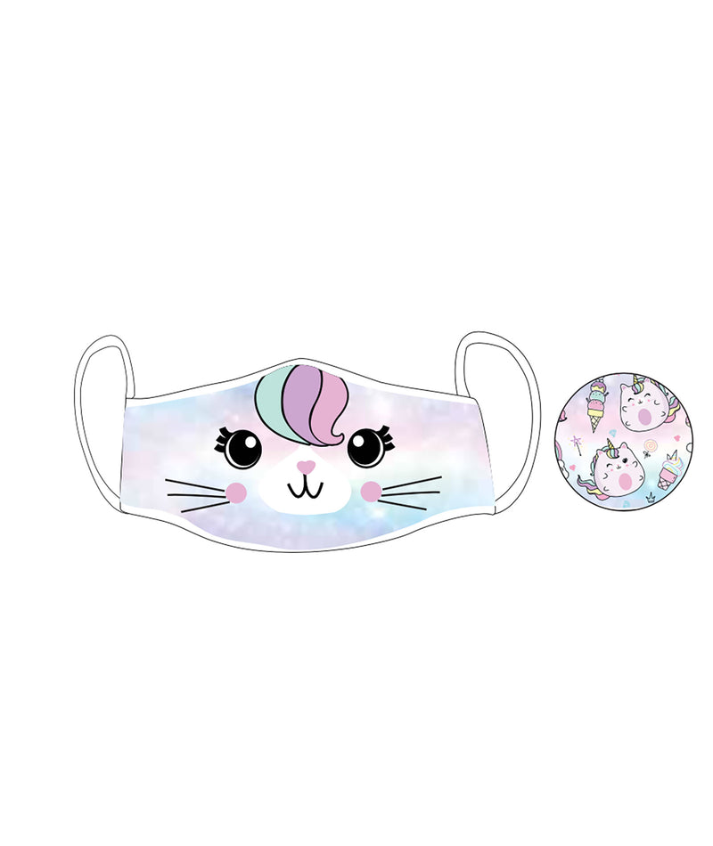 iScream Kids (5-12) Reversible Caticorn Face Mask - IN-STOCK