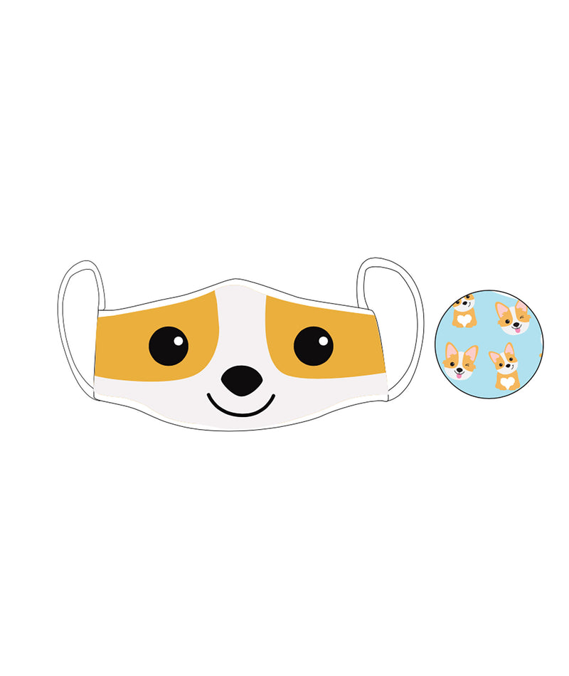 iScream Kids (5-12) Reversible Corgi Face Mask