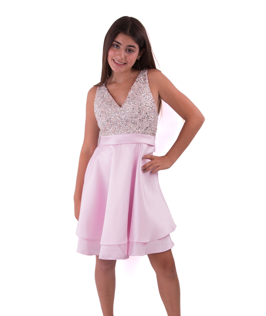 Jovani Womens Glitter Pink Dress - Frankie's on the Park