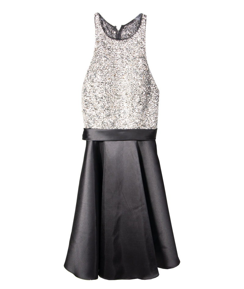 Jovani Women Black Bead Top Dress