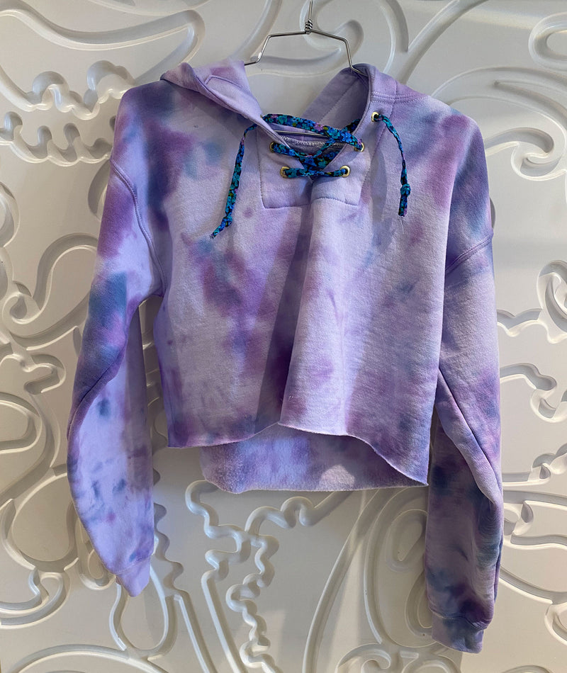 Spiritual Gangster Girls Watermelon Purple Tie Dye Sweatshirt