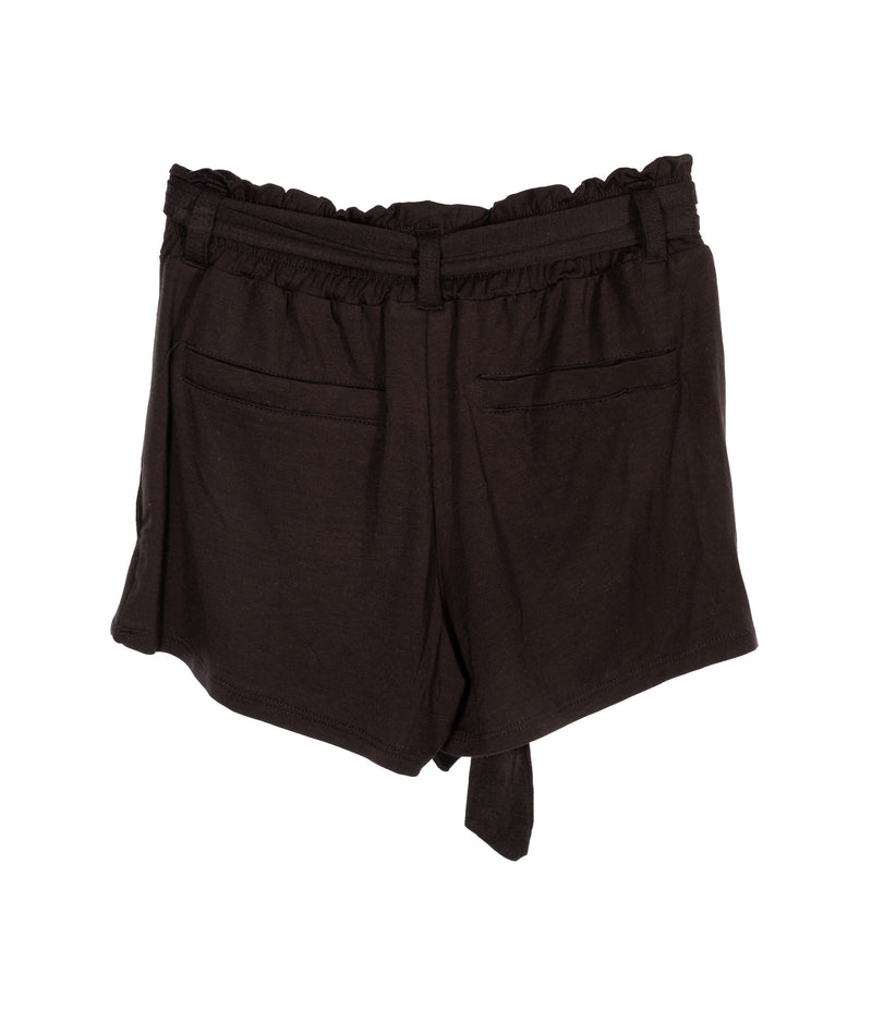 Katie J NYC Girls Black Tie Waist Shorts
