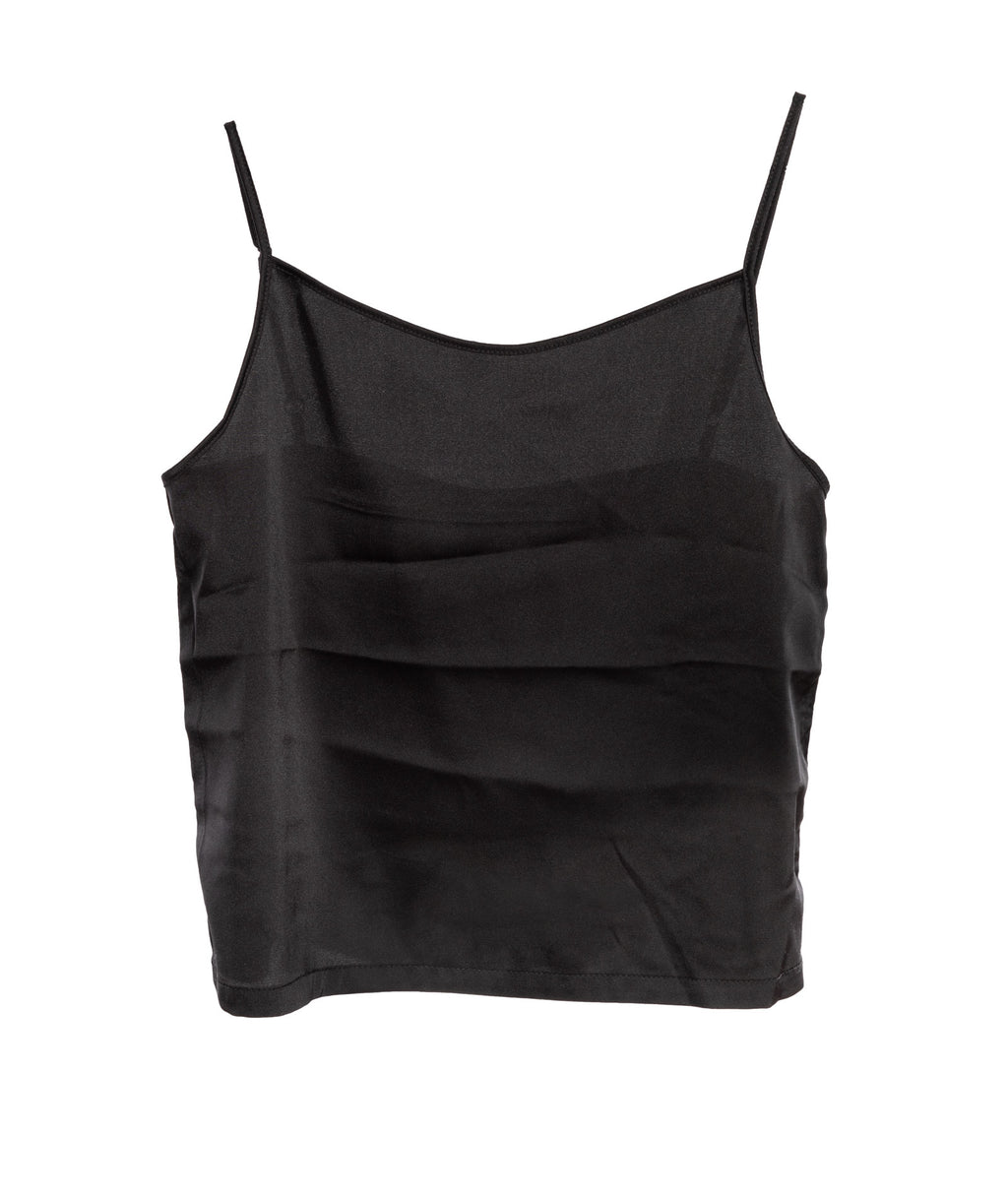 Katie J NYC Girls Black Silk Cami