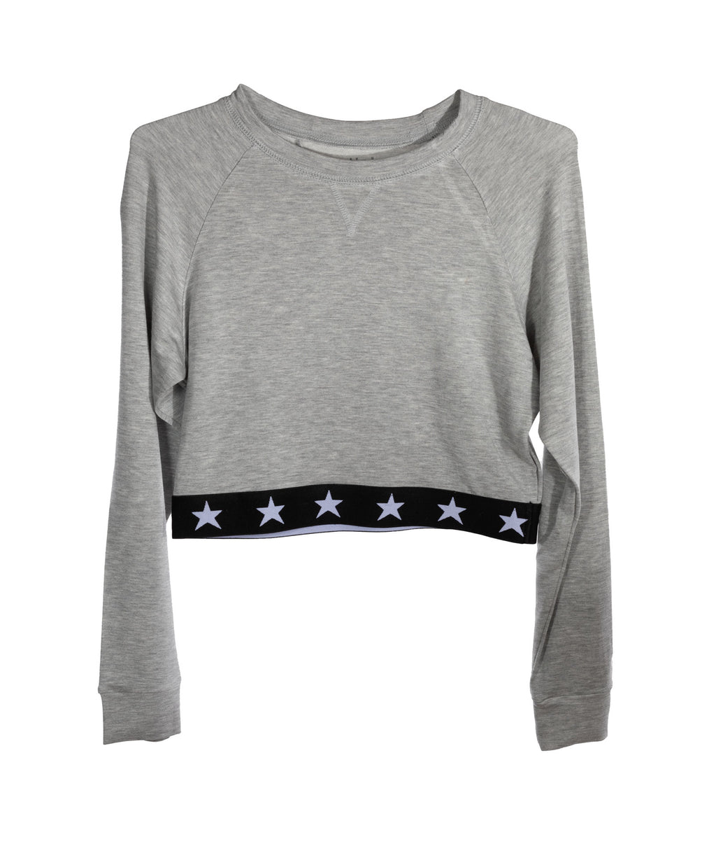 Katie J NYC Girls Grey Star Waist Top