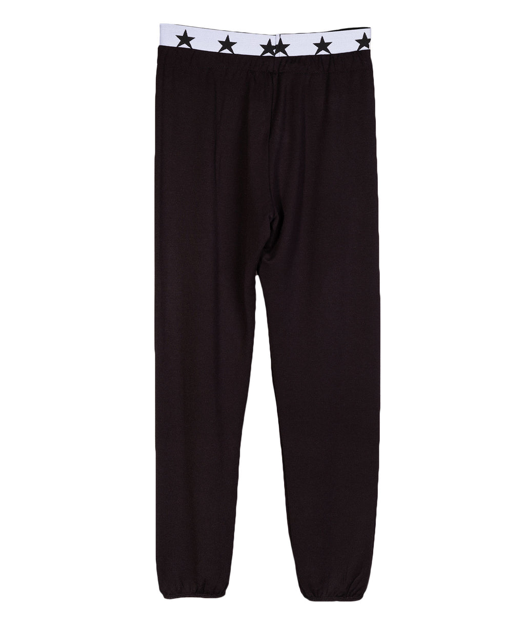Katie NYC Girls Black Stars Sweatpants