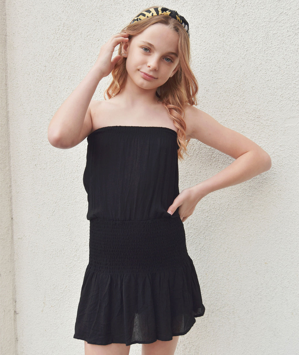 Katie J NYC Girls Cori Black Skort Dress