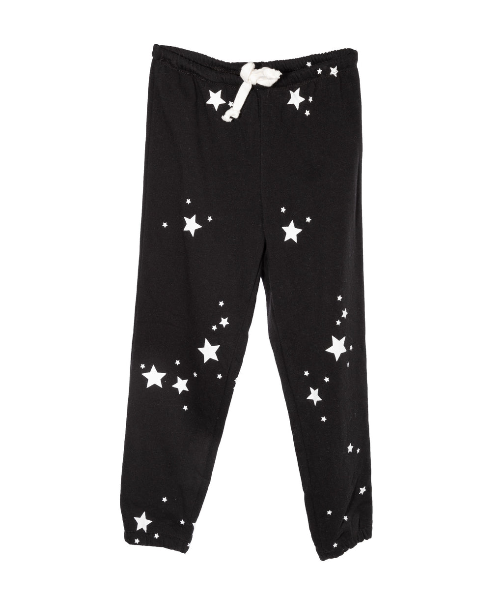 Katie J NYC Girls Faith Black Star Sweatpants