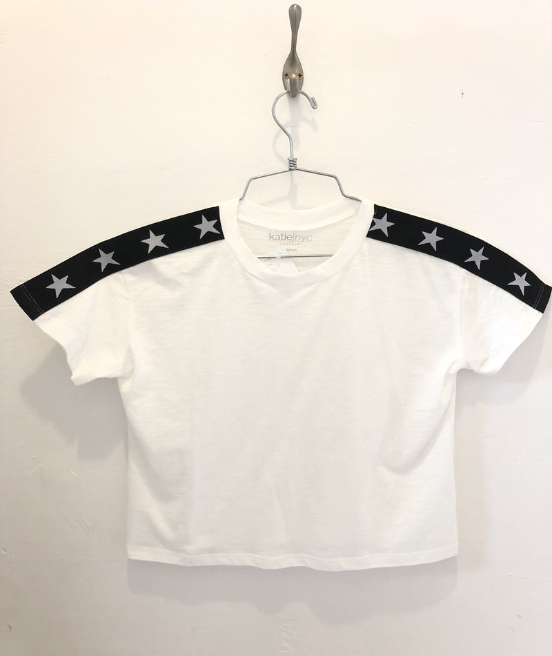 Katie J NYC Girls Fearless Star Crop Tee