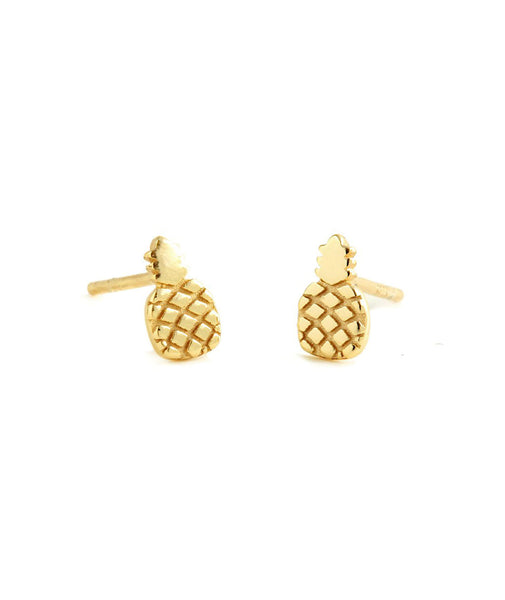 Kris Nations Gold Pineapple Stud Earrings