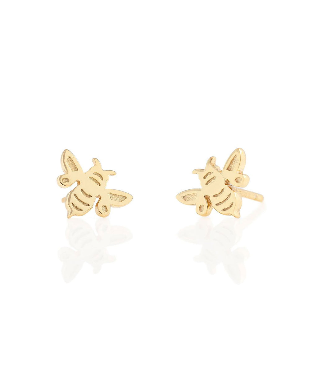Kris Nations Earrings Bumblebee Gold