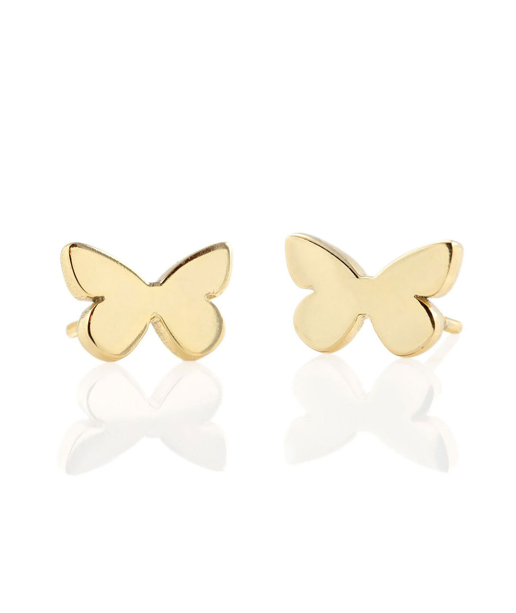 Kris Nations Earrings Butterfly Gold