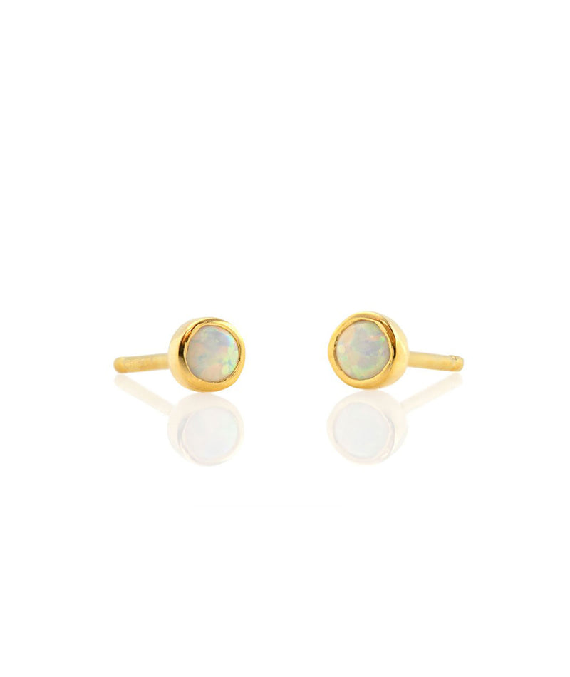 Kris Nations Earrings Gem Opal Gold