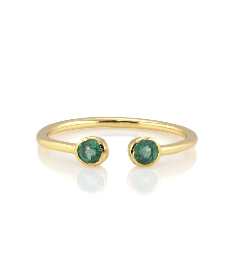 Kris Nations Gold Emerald Ring