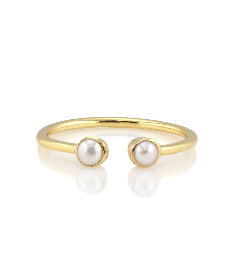 Kris Nations Gold Pearl Ring