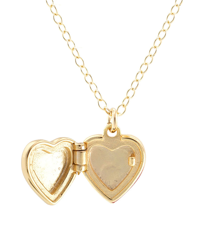Kris Nations Small Gold Heart Locket