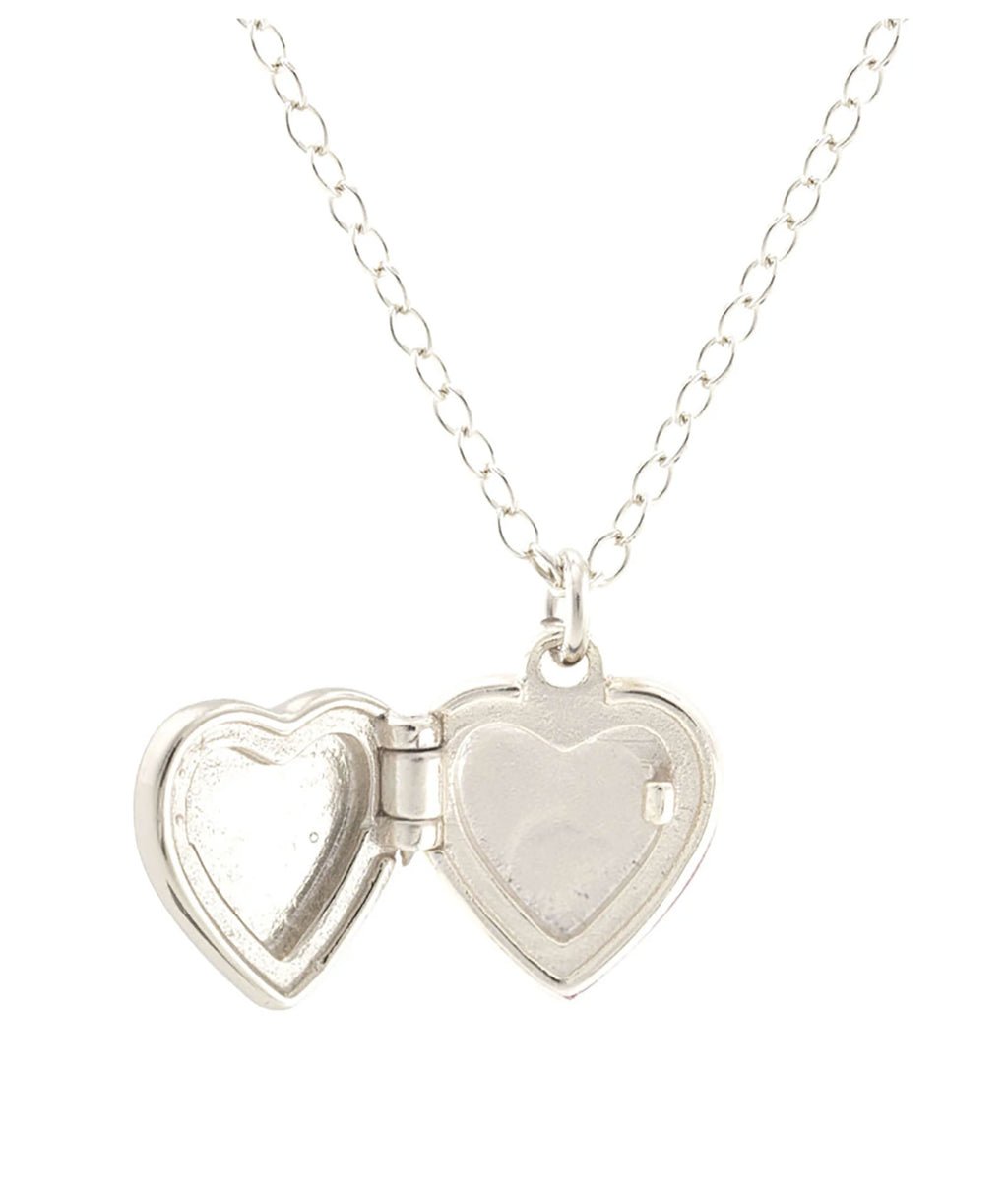 Kris Nations Small Silver Heart Locket