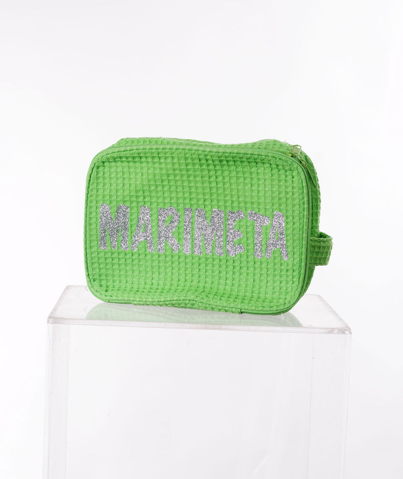 Like Wear Glitter Green Marimeta Cosmetic Bag - FINAL SALE - Frankie's on the Park