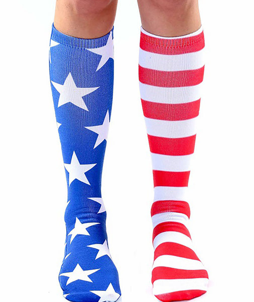 Living Royal American Flag Knee High Socks