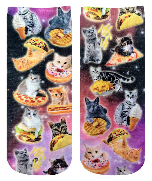 Living Royal Cats and Snacks Ankle Socks