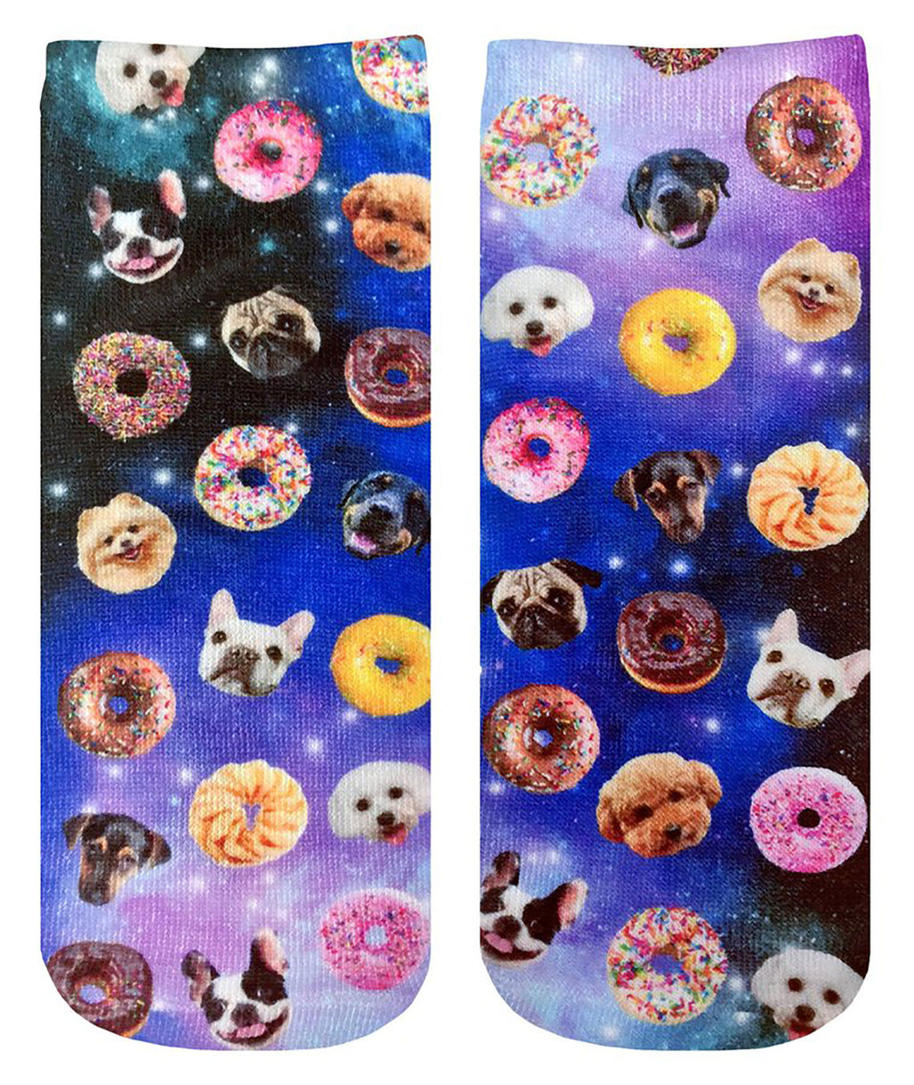 Living Royal Dogs and Donuts Ankle Socks - Frankie's on the Park