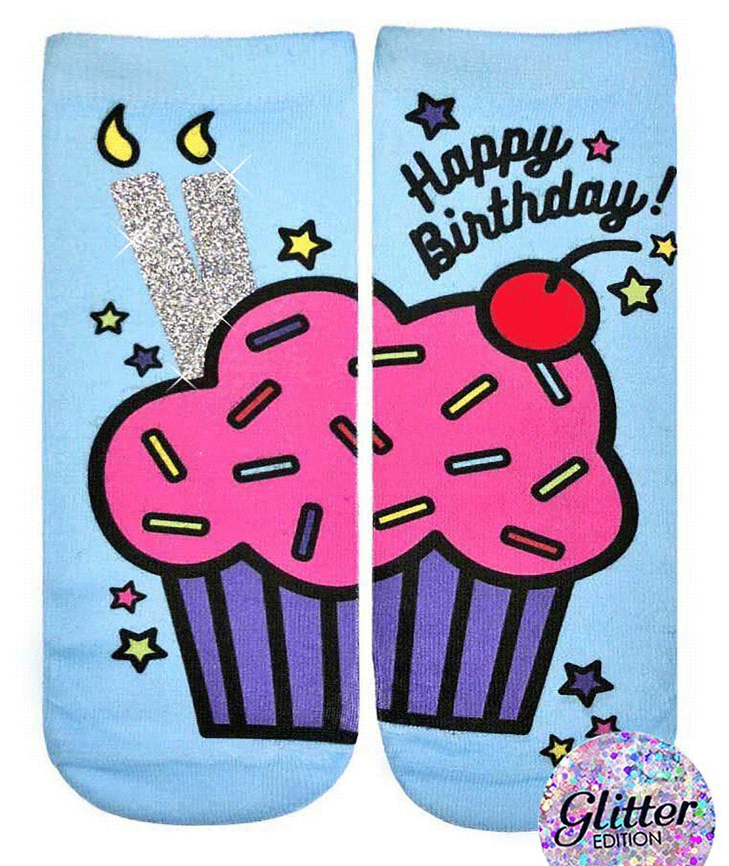 Living Royal Happy Birthday Cupcake Socks