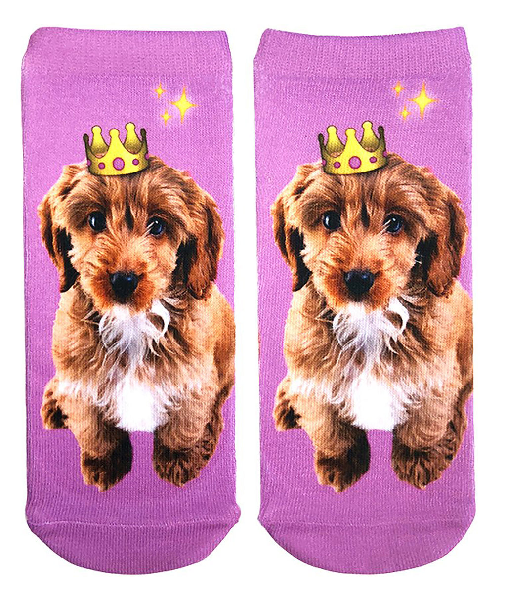 Living Royal Crown Puppy Socks