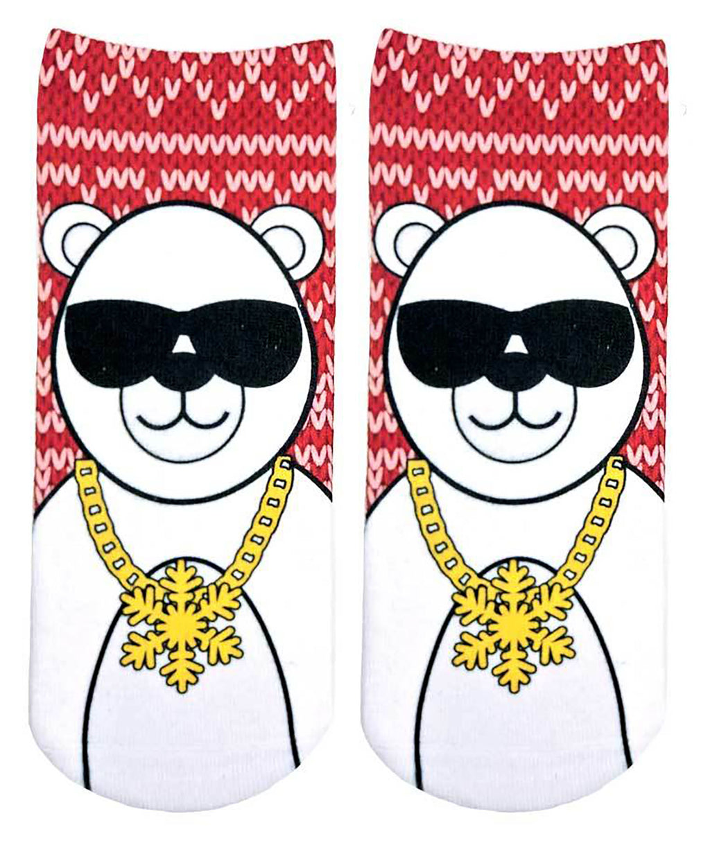 Living Royal Cool Polar Bear Ankle Socks