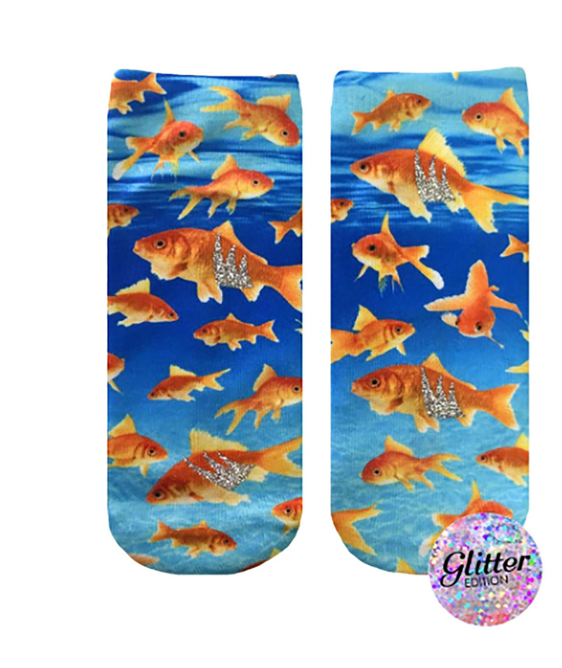 Living Royal Swimming Goldfish Ankle Socks