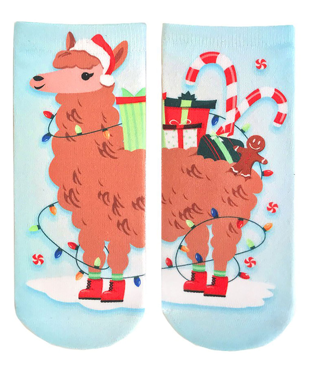 Living Royal Christmas Llama Socks