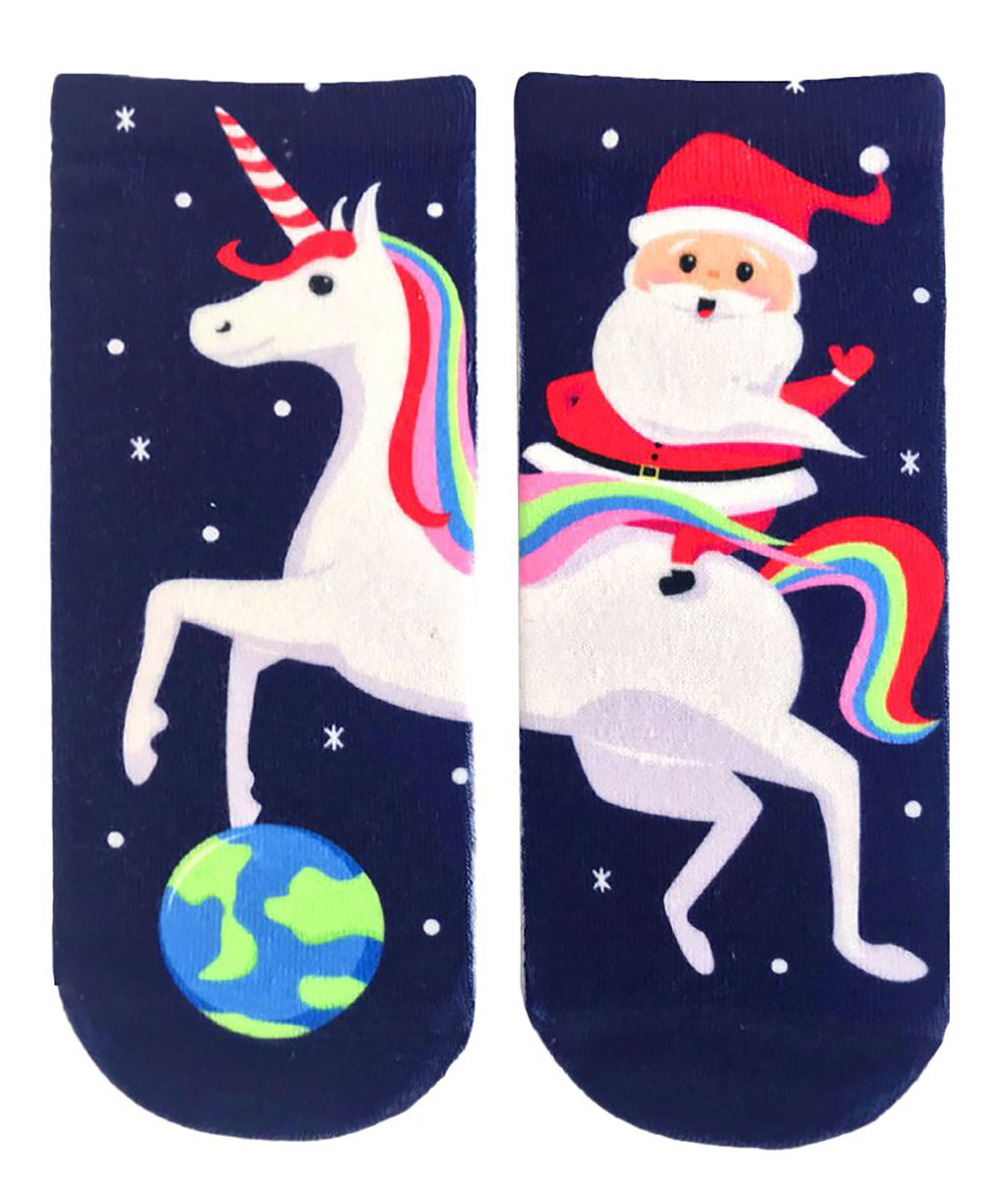 Living Royal Santa Unicorn Ankle Socks