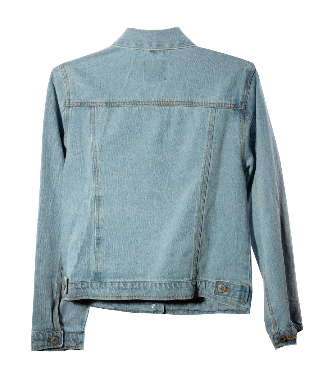 The Ella Distressed Denim Jacket Women