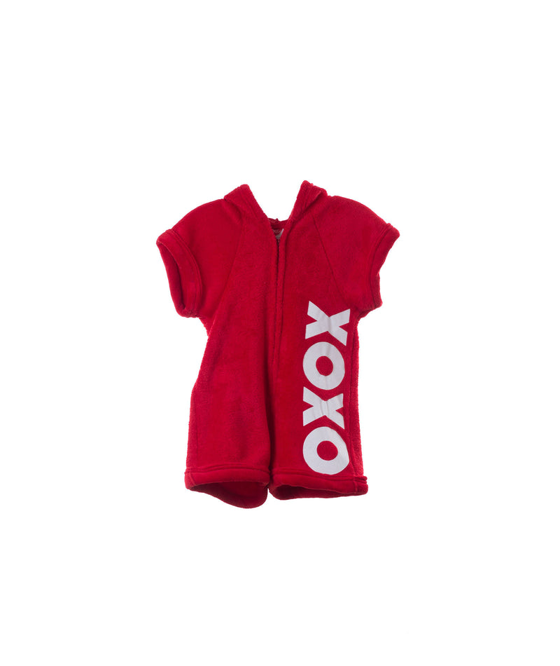 Made with Love & Kisses Girls Red XOXO Romper - Frankie's on the Park