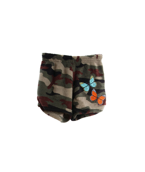 Made with Love and Kisses Girls Butterfly Plush Shorts