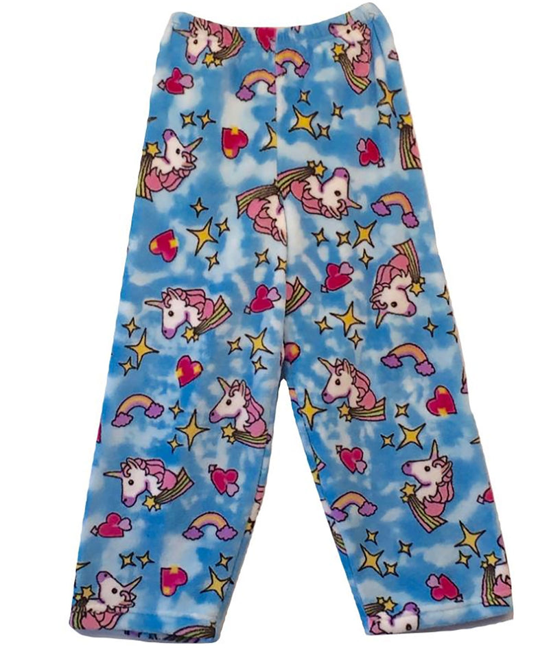 Made with Love and Kisses Unicorn Plush Pajama Pants - Frankie's on the Park