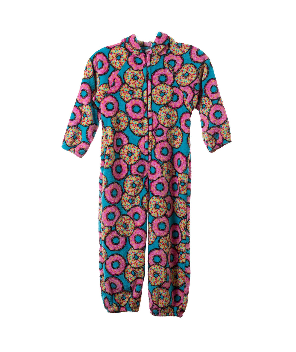 Made with Love and Kisses Girls Donut Plush Jumpsuit - Frankie's on the Park