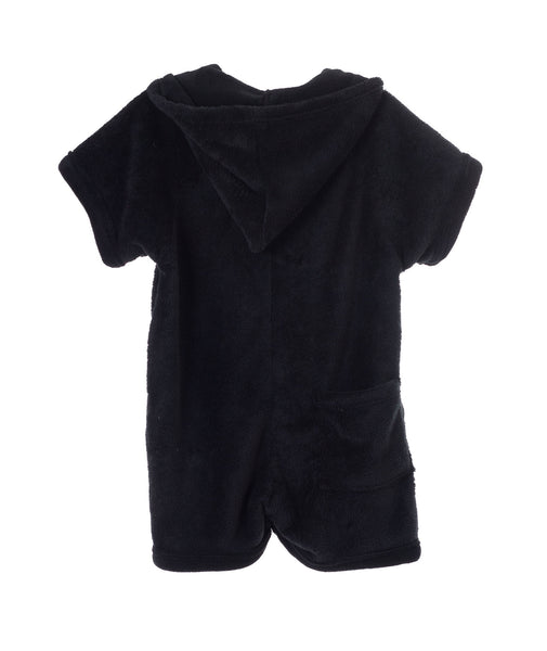 Made with Love & Kisses Girls Neon Love Black Romper