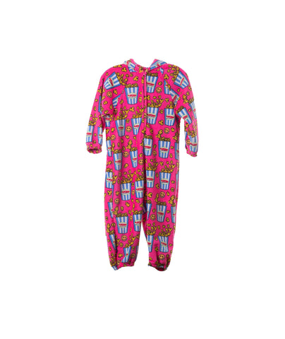 Made with Love and Kisses Girls Popcorn Plush Jumpsuit