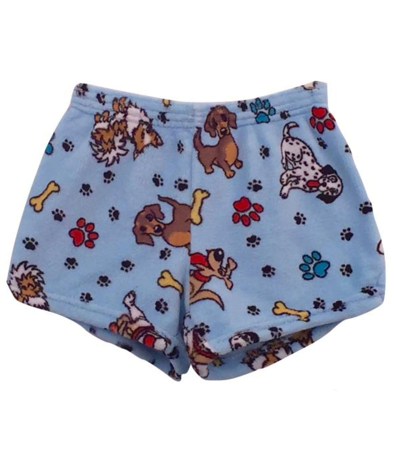 Made with Love and Kisses Girls Puppy Plush Shorts - Frankie's on the Park