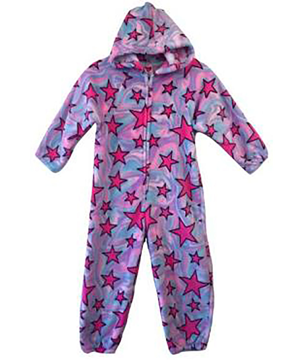 Made with Love and Kisses Girls Swirl Star Plush Jumpsuit - Frankie's on the Park