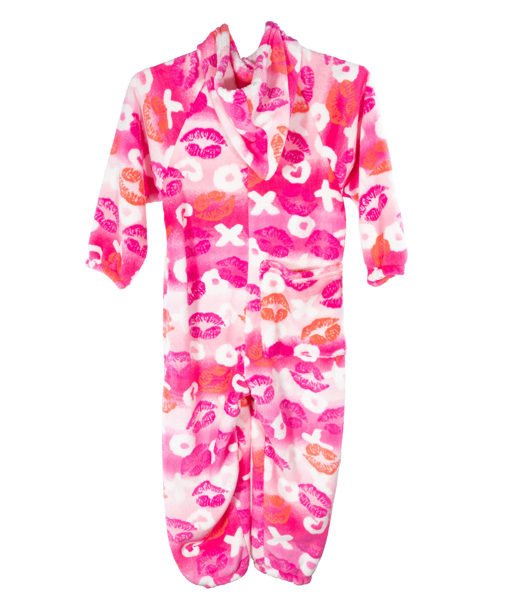 Made with Love and Kisses Pink Lips Jumpsuit