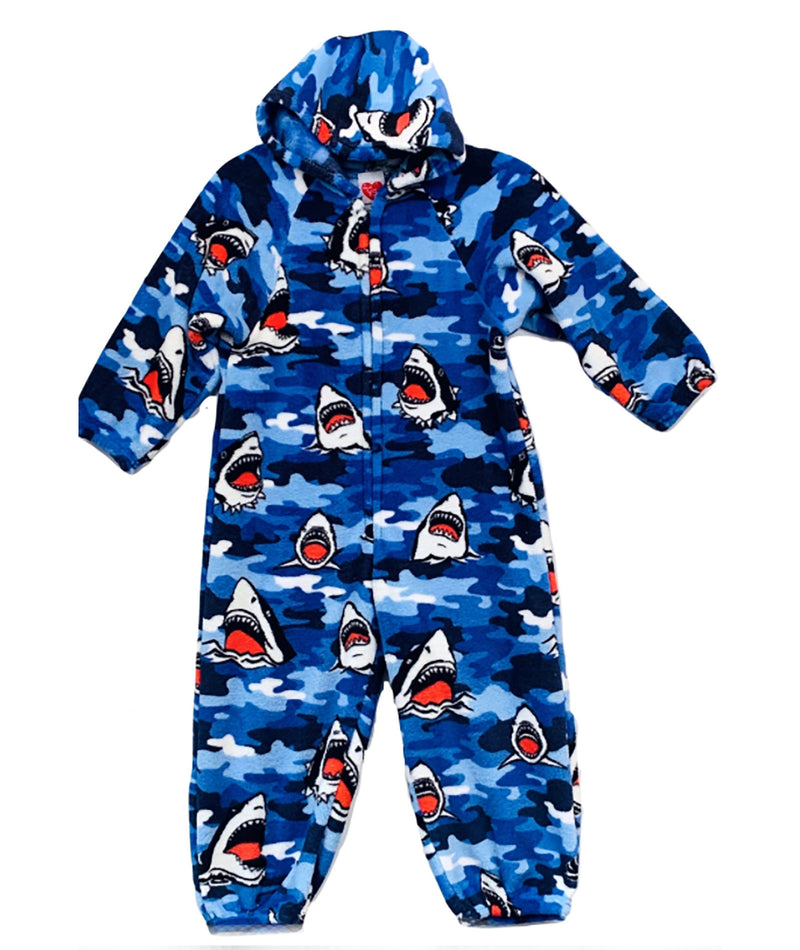 Made with Love and Kisses Shark Jumpsuit