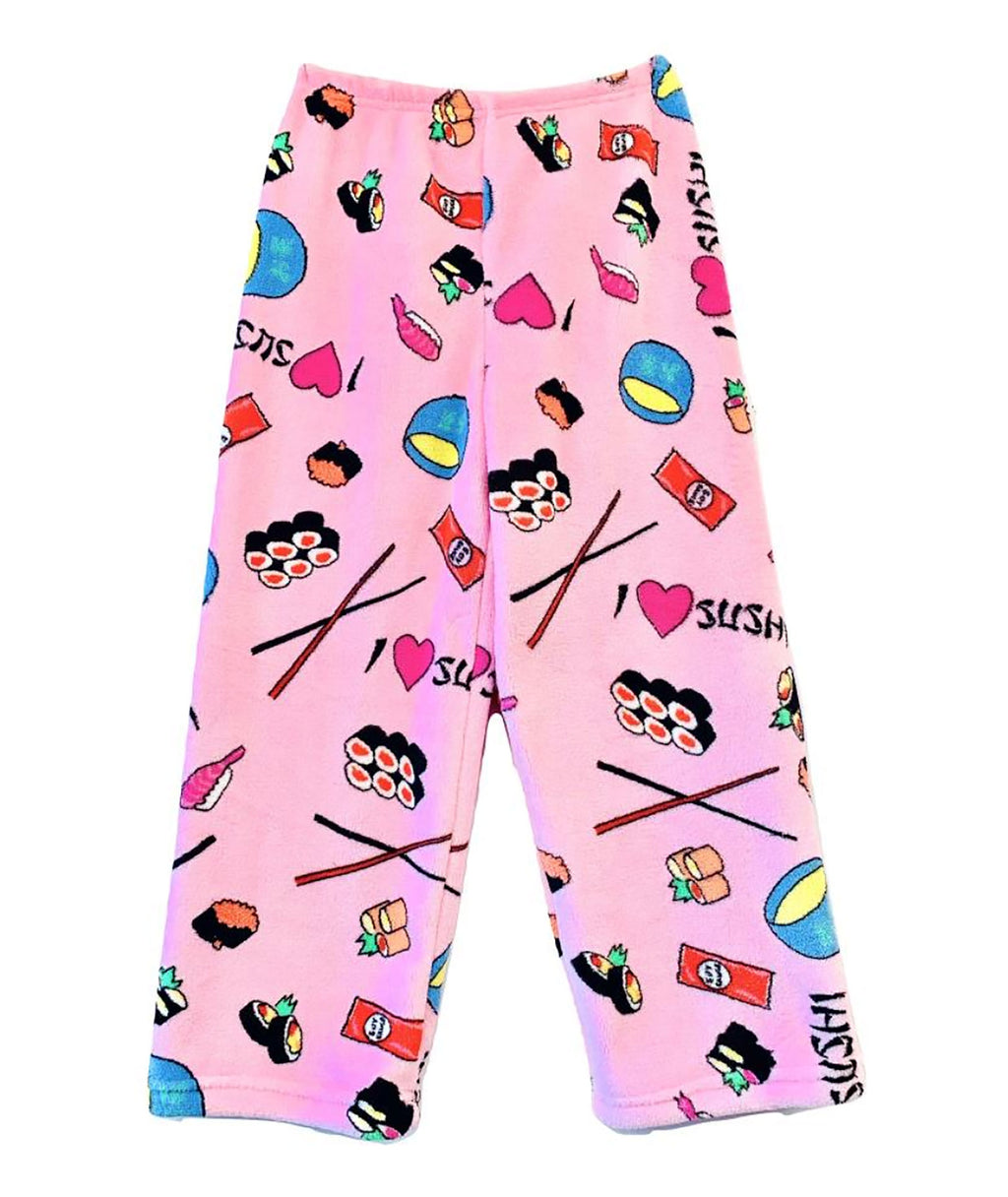 Made with Love and Kisses Girls Pink Sushi Lounge Pants