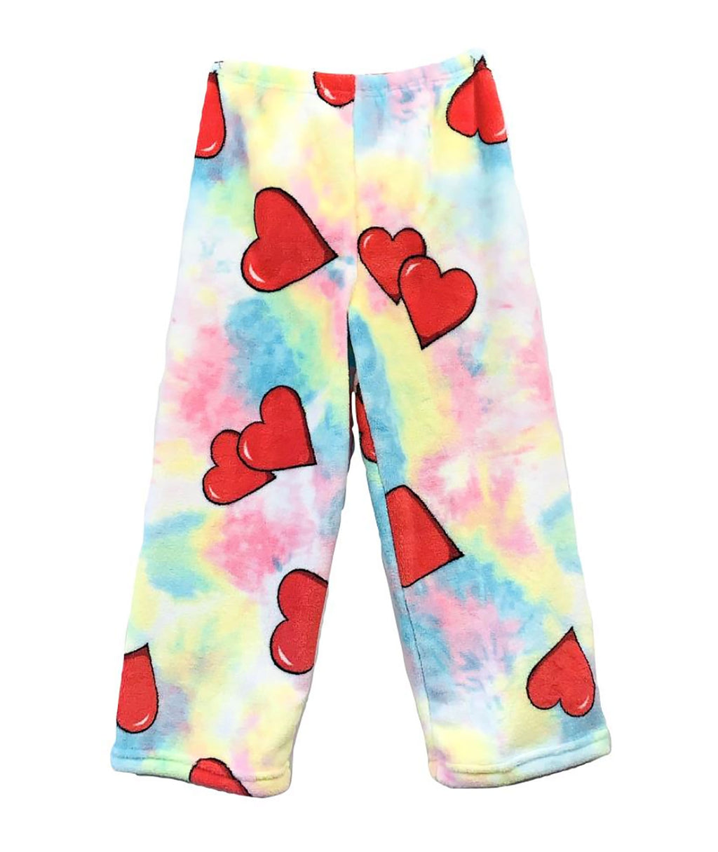 Made with Love and Kisses Tie-Dye Hearts Pants